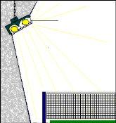 Tennis-Beleuchtung bei Tennisboden DE