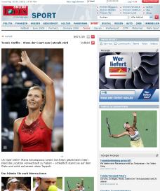 Tenniscourts: Wenn der Tennis-Court zur Laufsteg wird…