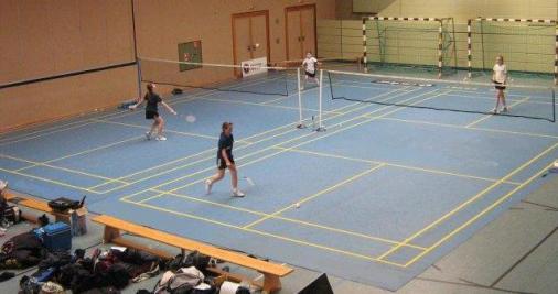 Badminton mobiles Feld